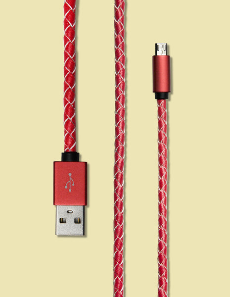 Micro USB - Braided Leather - Unmanned