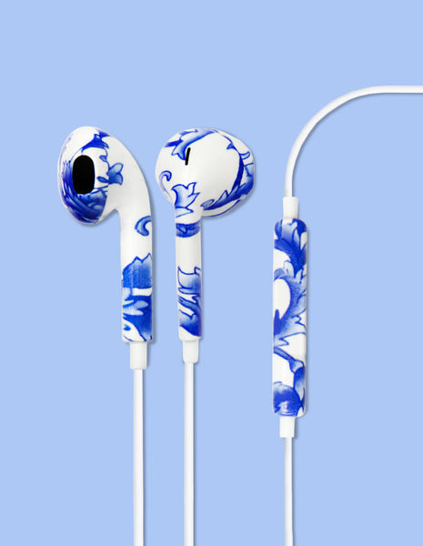 Earbud Headphones - Baroque Blue - Unmanned