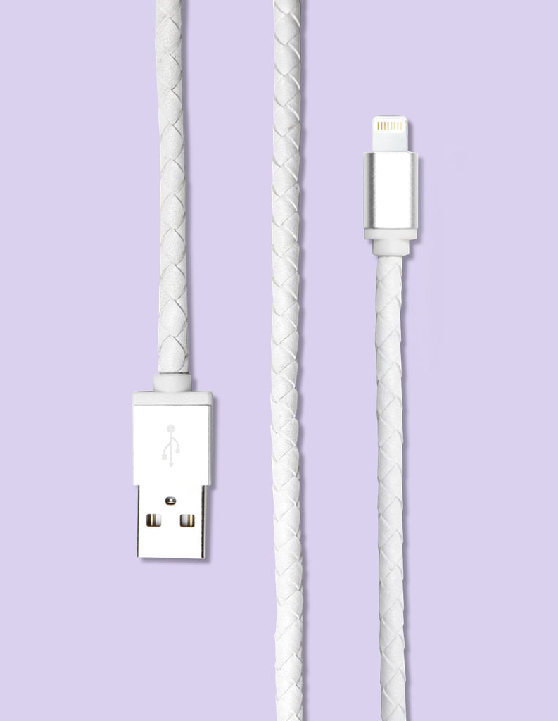 Lightning Cable - Braided Leather - Unmanned - 2