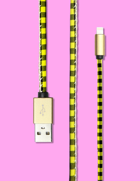 Lightning Cable - Plaid Print - Unmanned