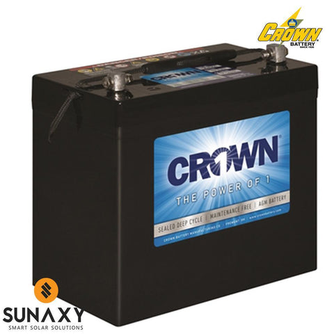 Crown: Battery, 12V, 110Ah at C/20, AGM, Crown 12CRV110