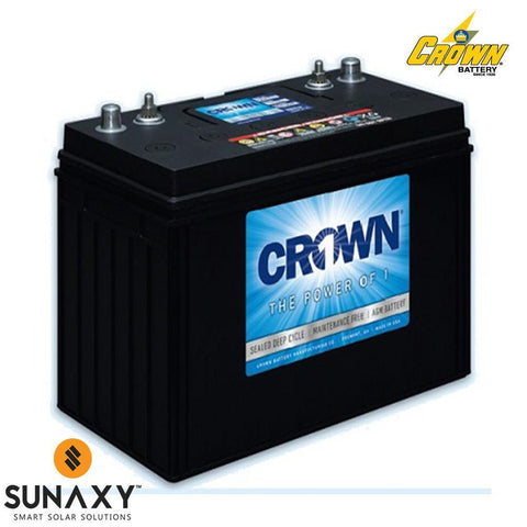 Crown: Battery, 12V, 135Ah at C/20, AGM, Crown 12CRV135