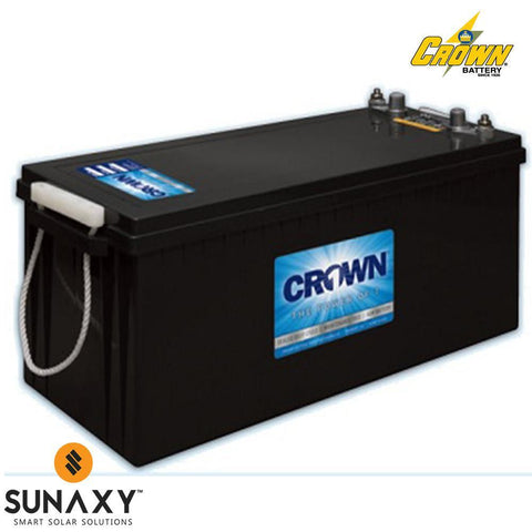Crown: Battery, 12V, 240Ah at C/20, AGM, Crown 12CRV8D
