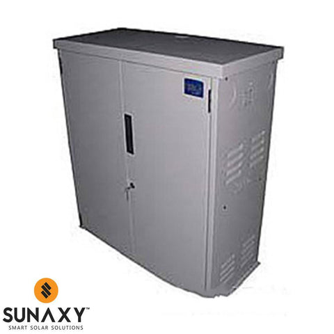 "MidNite Solar: 18x8x36"" Gray Steel Locking Battery Enclosure"