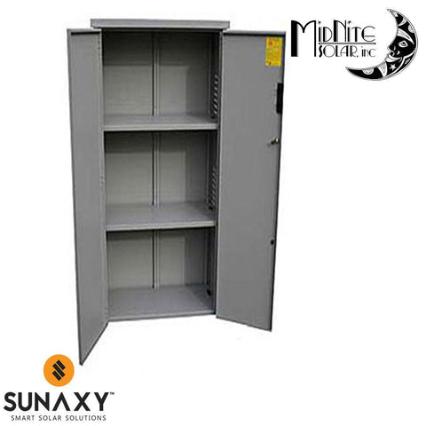 MidNite Solar: 55x16x36.5 Gray Locking Battery Enclosure