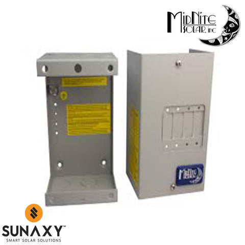 MidNite Solar: Aluminum 4 Panel Mount Type Breaker Enclosure