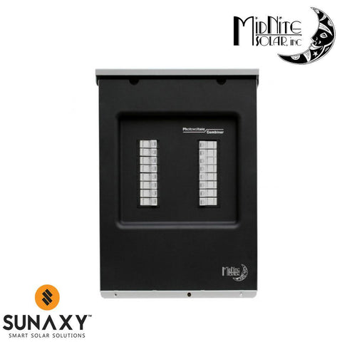 MidNite Solar: MNPV16 DC Combiner, gray alum for up to 16 -600VDC fuse hold