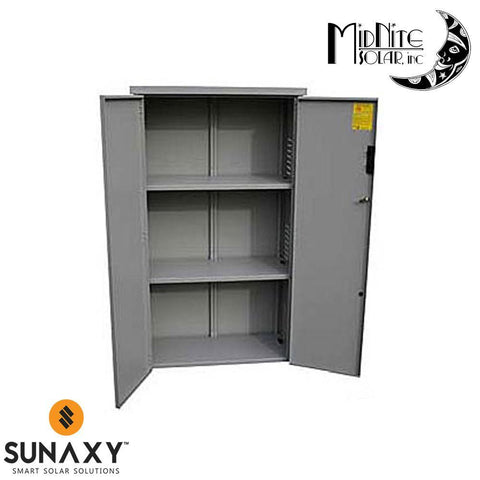 MidNite Solar: 36.5x16x55 Gray Steel Locking Enclosure - Indoor