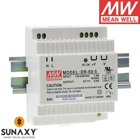 Meanwell: Power Supply, 4A, 88-264VAC, 15VDC, MEA DR-60-15