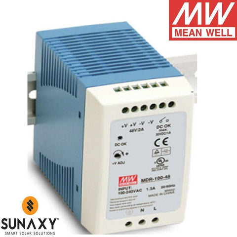 Meanwell: Power Supply, 2A, 85-264VAC, 48VDC, MEA MDR-100-48