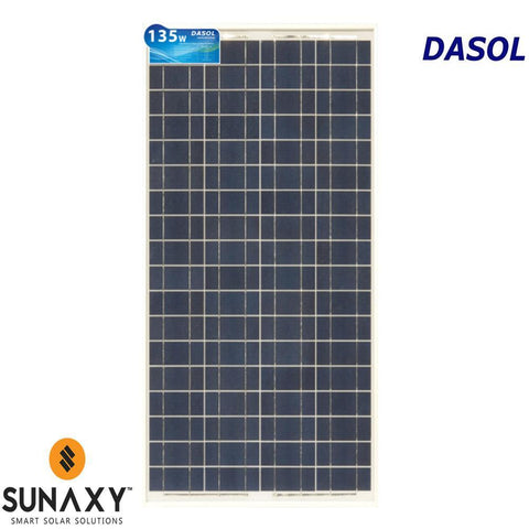 DASOL, DS-A18-135, PV MODULE, 135W, POLY/WHITE/CLEAR, MC4-TYPE, CHINA ASSY