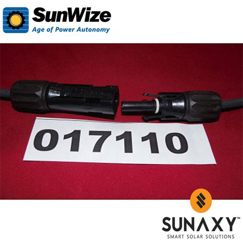 "SunWize Module Cable, 48"", Amphenol H4-Male/Female"