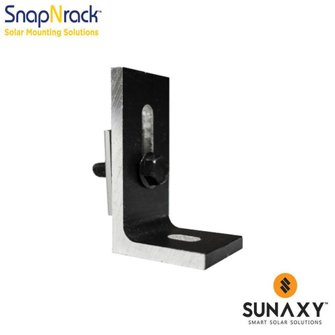 SNAPNRACK, ALL PURPOSE L FOOT (90 DEG), BLACK