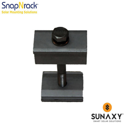 SNAPNRACK, BONDING MID CLAMP ASSEMBLY, 1.20 - 1.48IN, BLACK