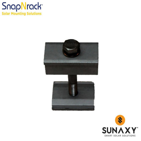 SNAPNRACK, BONDING MID CLAMP ASSEMBLY, 1.50 - 2.00IN, BLACK