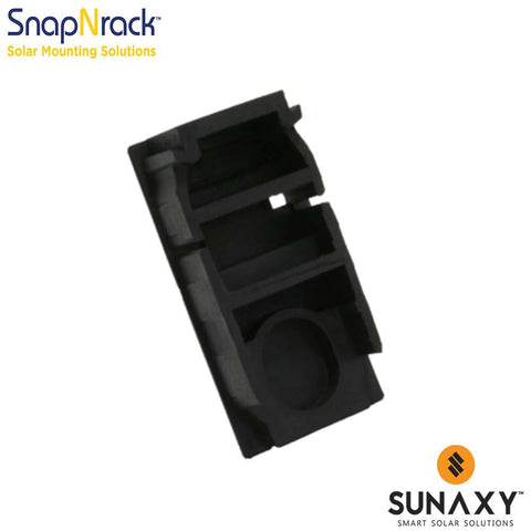SNAPNRACK, GROUND RAIL END CAP, BLACK