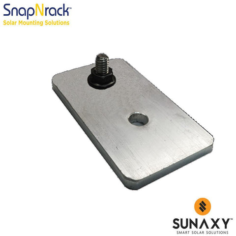 SNAPNRACK, L FOOT BASE WITH NUT