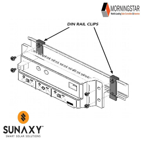 Morningstar: CC Acc, DIN-1, Din Stainless Steel Rail Clips