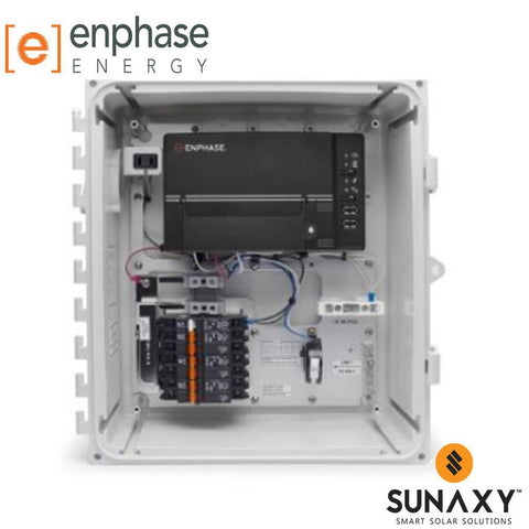 ENPHASE, XAM1-120-B M, AC COMBINER BOX, METERED, WITH ENVOY-S, METERED GATEWAY, 3X 20A BREAKERS