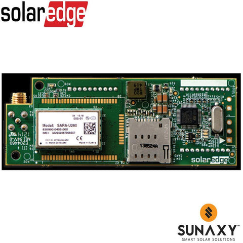 SOLAREDGE, SE-GSM-R5-US-S2, ACCESSORY, SOLAREDGE CELLULAR GSM KIT, INCLUDES 5-YR NON-EXTENDABLE PREPAID CELLULAR SERVICE PLAN, ONE INVERTER/60 OPT/2 METERS/1 OR 2 BATTERIES