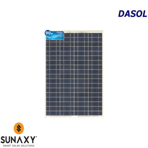 DASOL, DS-A18-90, PV MODULE, 90W, POLY/WHITE/CLEAR, MC4-TYPE, CHINA ASSY