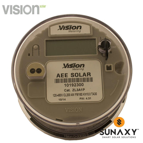VISION, V16S-16S, DIGITAL KWH METER, 3 PHASE, FORM 14/15/16S