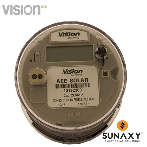 VISION, V16S-16S, DIGITAL KWH METER, WIRELESS COMM, 3 PHASE, FORM 14/15/16S