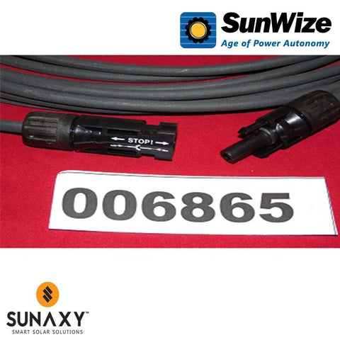 "SunWize: 6"" MC4 to Amphenol Conversion Cable - 1 Pair"