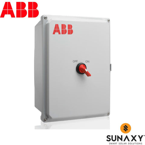 ABB, RAPID SHUTDOWN COMBINER BOX WITH DISCONNECT SWITCH, 2X2 MAX STRINGS IN - 2  COMBINED STRINGS OUT, RS2-2PN6-KIT, 11.25A PER STRING, 600 VOLTS, NEMA 4X