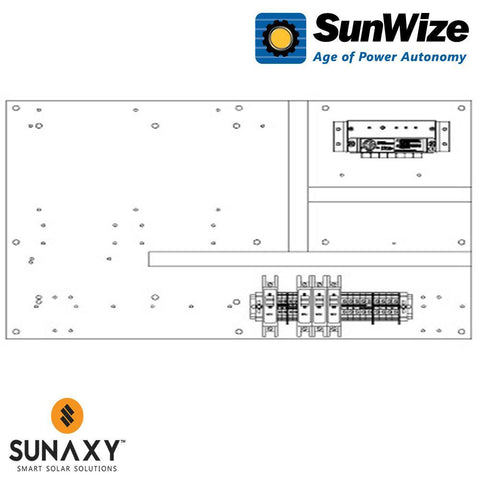 "SunWize: PO Control Panel, 24"" x 16"", 600 Watts, 12/24 Volts"
