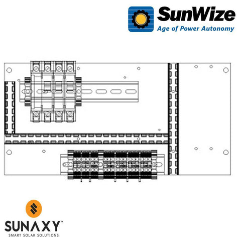 "SunWize: PO Control Panel, 15"" x 7.5"", 60 Watts, 12/24/48 Volts"
