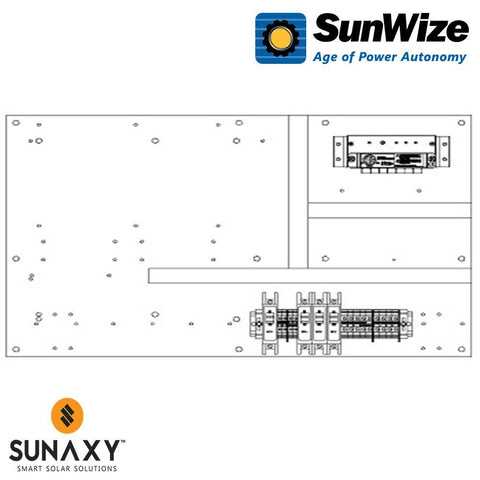 "SunWize: PO Control Panel, 24"" x 16"", 300 Watts, 12/24/48 Volts"