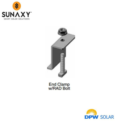 DPW, RAD END CLAMP, BLACK , DP-EC-XX-RAD-B