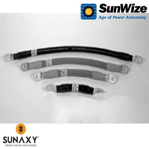 "SunWize: Battery Interconnect Cable, 16"" #4 AWG Black"