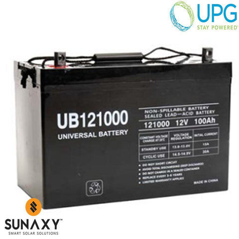 Universal Power Group Inc: Battery, 12V, 115Ah at C/100, AGM, UPG 45978