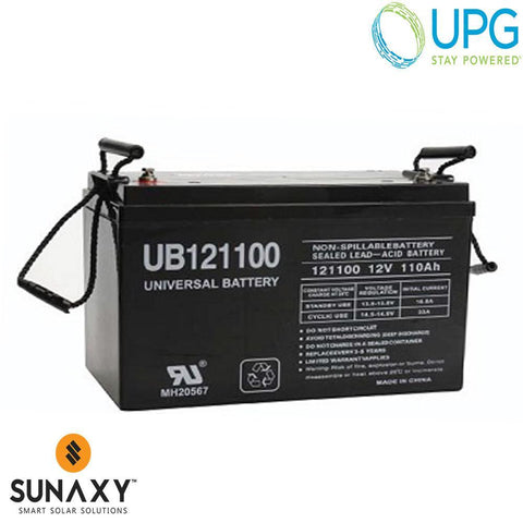 Universal Power Group Inc: Battery, 12V, 126Ah at C/100, AGM, UPG 45981