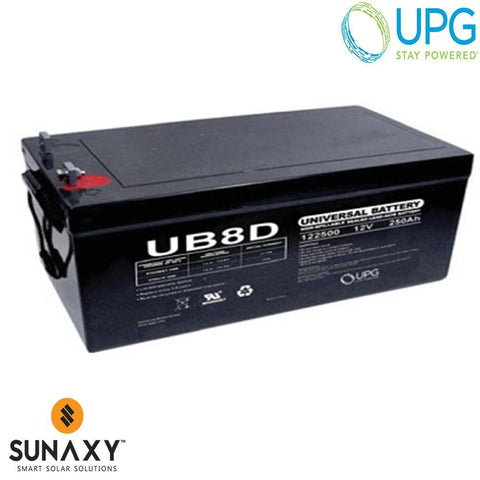 Universal Power Group Inc: Battery, 12V, 287Ah at C/100, AGM, UPG 45964
