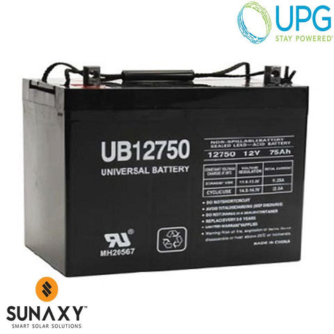 Universal Power Group Inc: Battery, 12V, 86Ah at C/100, AGM, UPG 45821