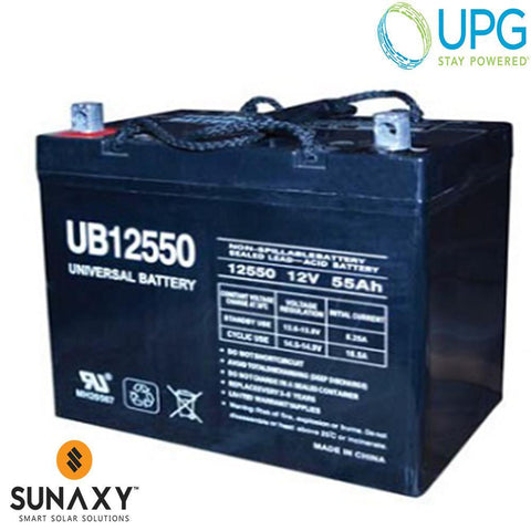 Universal Power Group Inc: Battery, 12V, 63Ah at C/100, AGM, UPG 40740
