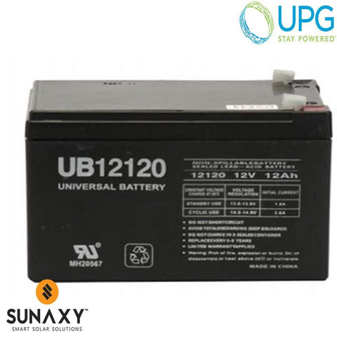 Universal Power Group Inc: Battery, 12V, 12Ah at C/20, AGM, UPG D5775