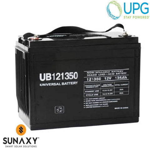Universal Power Group Inc: Battery, 12V, 155Ah at C/100, AGM, UPG 40994