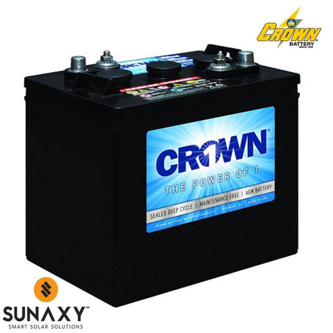 Crown: Battery, 6V, 220Ah at C/20, AGM, Crown 6CRV220