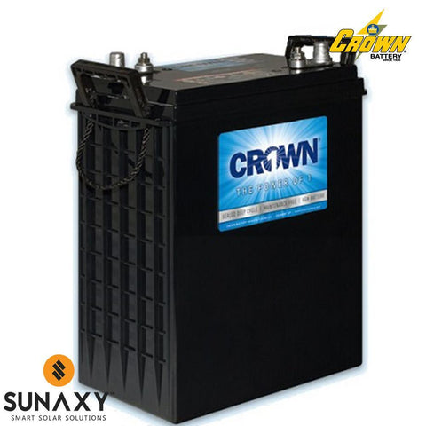 Crown: Battery, 6V, 330Ah at C/20, AGM, Crown 6CRV330