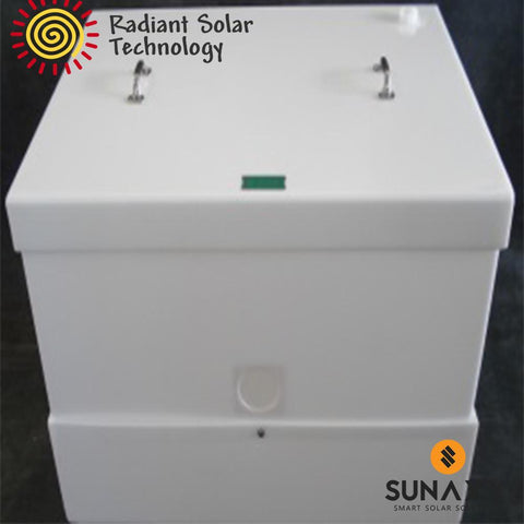 Radiant Solar Technology HDPE Battery Enclosure for 8 L-16s (with drain)