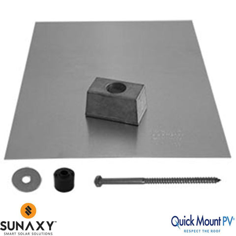 Quick Mount QMSE-Lag A 12 PV E-Mount Lag Bolt Flashing - Single