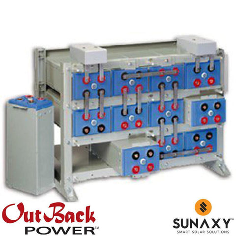 Outback Power 1100RE 48 VDC 960 AH Battery Bank