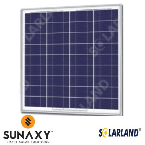 Solarland SLP070-12M Silver Poly Solar Panel