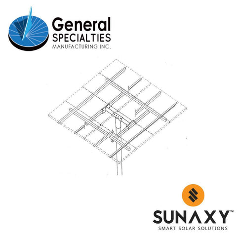 General Specialties UPM 6X Pole Mount (for Panel Sizes: A, B, C)