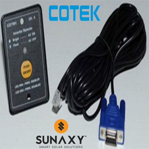 Cotek CR6-12 Remote for SK & ST Inverters - w/ 25' cord