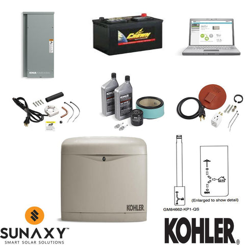 14kW Kohler Partial Home Backup Generator Package